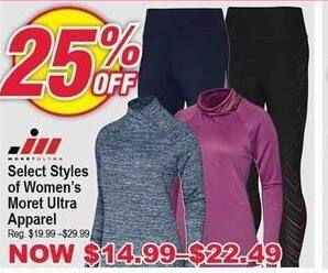Modells Black Friday: Select Moret Ultra Apparel for Women - 25% Off