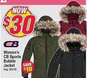 Modells Black Friday: CB Sports Bubble Jacket for Women for $30.00