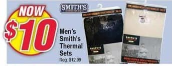 Modells Black Friday: Smith's Thermal Sets for Men for $10.00