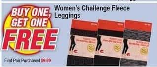 Modells Black Friday: Challenge Fleece Leggings - B1G1 Free