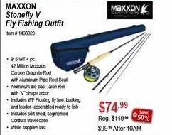 Sportsman's Warehouse Black Friday: Maxxon Stonefly V Fly Fishing Outfit for $74.99