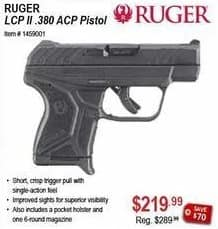 Sportsman's Warehouse Black Friday: Ruger LCP II .380 ACP Pistol for $219.99