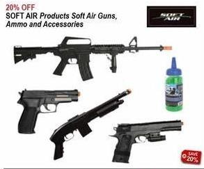 Sportsman's Warehouse Black Friday: Soft Air Guns, Ammo & Accessories - 20% Off