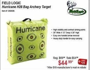 Sportsman's Warehouse Black Friday: Field Logic Hurricane H28 Archery Target for $44.99 after $10.00 rebate