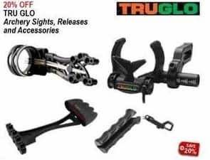 Sportsman's Warehouse Black Friday: Tru Glo Archery Sights, Releases & Accessories - 20% Off