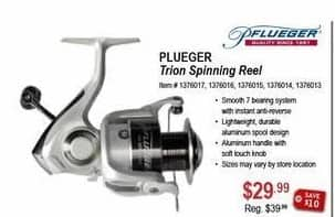 Sportsman's Warehouse Black Friday: Plueger Trion Spinning Reel for $29.99