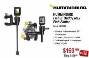 Sportsman's Warehouse Black Friday: Humminbird Fishin Buddy Max Fish Finder for $169.99