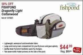Sportsman's Warehouse Black Friday: Fishpond Dragonfly Light Cottonwood for $44.99
