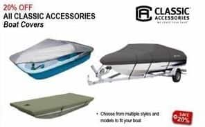 Sportsman's Warehouse Black Friday: Classic Accessories Boat Covers - 20% Off