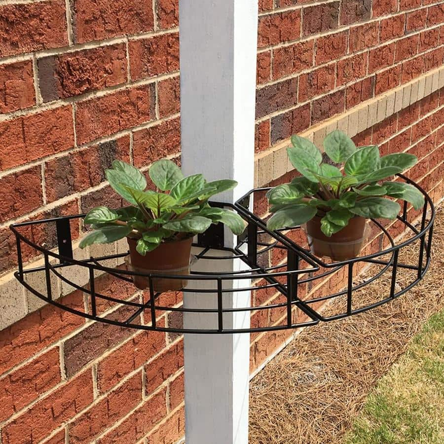 Patio Life 12 In W X 3 In H Black Metal Wall Planter 1 48 79 Off