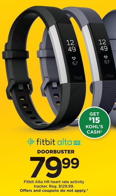 Kohl's Black Friday: Fitbit Alta HR + $15 Kohl's Cash for