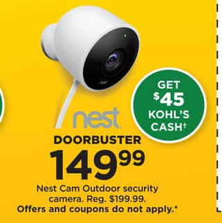 Kohl's Black Friday: Nest Cam Outdoor Security Camera ...