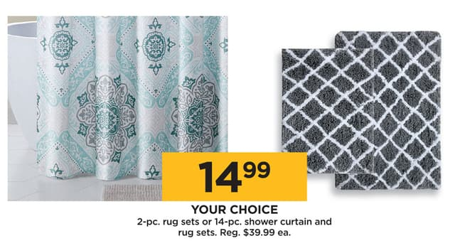 Kohls Black Friday 2 Pc Rug Set Or 14 Shower Curtain And For 1499