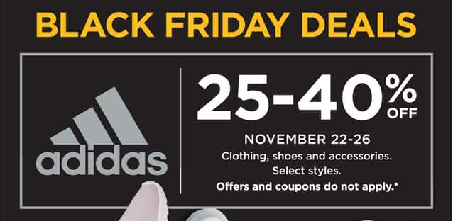 Kohl's Black Friday: Adidas Clothing, Shoes and Accessories