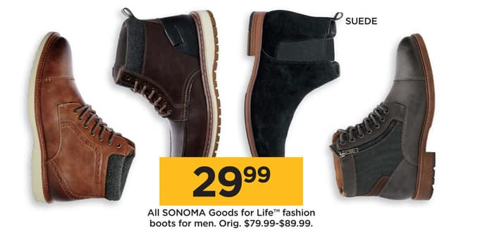 cc4e80cdfc5 Kohl s Black Friday  All Sonoma Goods for Life Fashion Boots for Men for   29.99