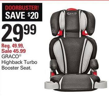 Shopko Black Friday Graco Highback Turbo Booster Seat For 2999