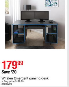 brand new 86afd 6b598 Staples Black Friday: Whalen Emergent Gaming Desk for ...