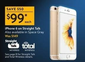 brand new 3c867 4d892 Walmart Black Friday: iPhone 6 on Straight Talk or Total Wireless ...