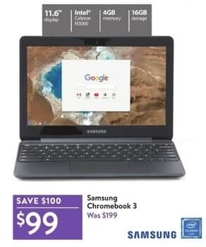 Black Friday Chromebook >> Walmart Black Friday Samsung 11 6 Chromebook 3 Intel Celeron N3060