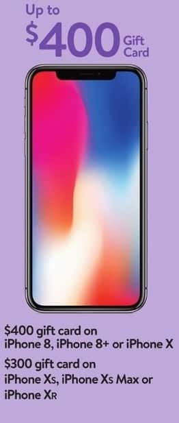 finest selection 210be c170a Walmart Black Friday: iPhone Xs, Xs Max or Xr Purchased on ...
