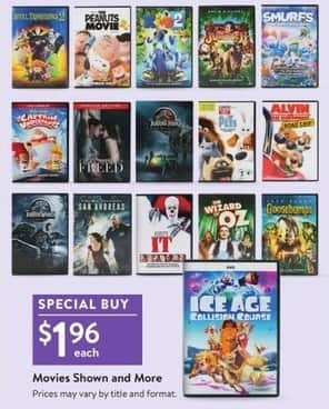 Walmart Black Friday Ice Age Collision Course The Wizard Of Oz It