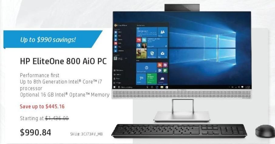 HP Cyber Monday: HP EliteOne 900 23 8