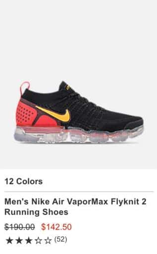 quality design 835f3 16a70 Finish Line Black Friday: Men's Nike Air VaporMax Flyknit 2 ...