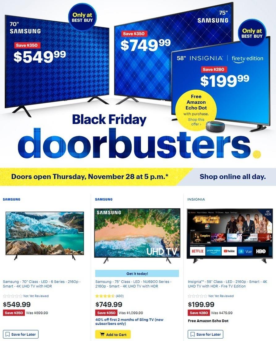 "Best Buy Black Friday: 58"" Insignia NS-58DF620NA20 Smart 4K UHD Fire TV + Free Amazon Echo Dot for $199.99"