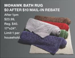 "Macy's Black Friday: Mohawk 17x24"" Bath Rug for Free after $10 rebate"