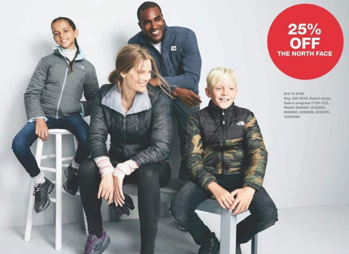 Macy's Black Friday: The North Face for the Family, Select Styles - 25% off