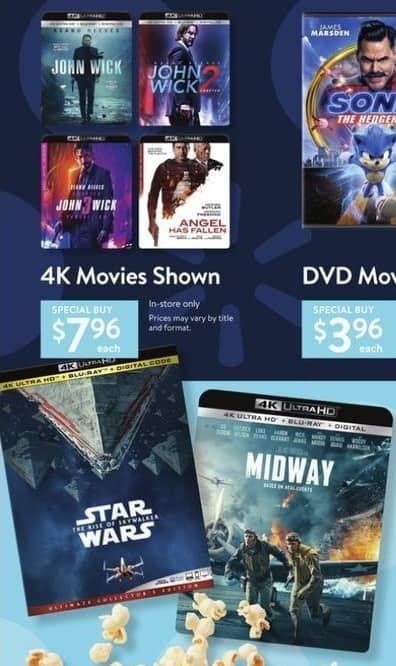 Walmart Black Friday John Wick John Wick 2 John Wick 3 Star Wars The Rise Of