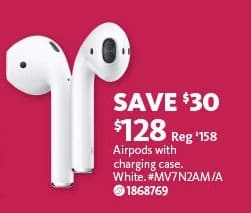 Aafes Black Friday Apple Airpods With Charging Case For 128 00