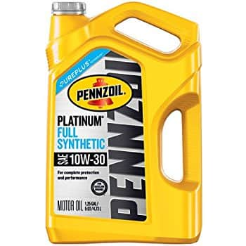 5 quart of penzoil platinum 5w30. $9.98 after rebate