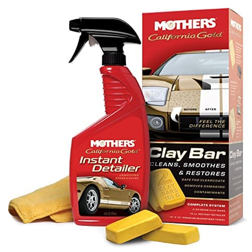 Mothers Clay Bar kit with detailer spray and microfiber towel $11.92 at Amazon AC and S&S