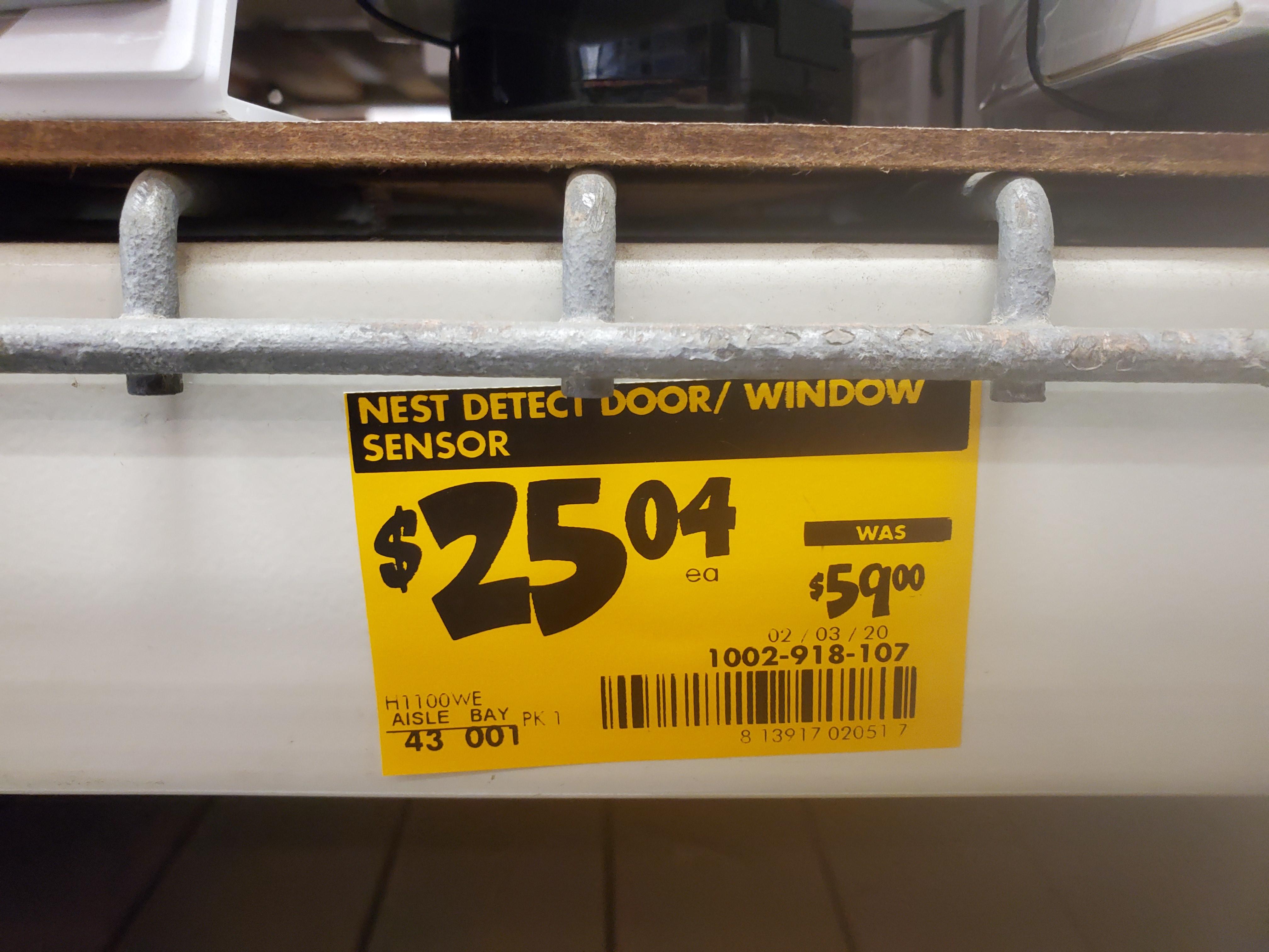 Nest Detect Sensor for Google Nest Secure Alarm System $13 at HD YMMV $13