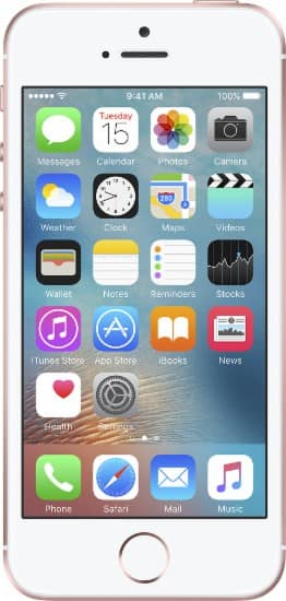 Apple - Geek Squad Certified Refurbished iPhone SE 64GB - Rose gold / Silver - $330