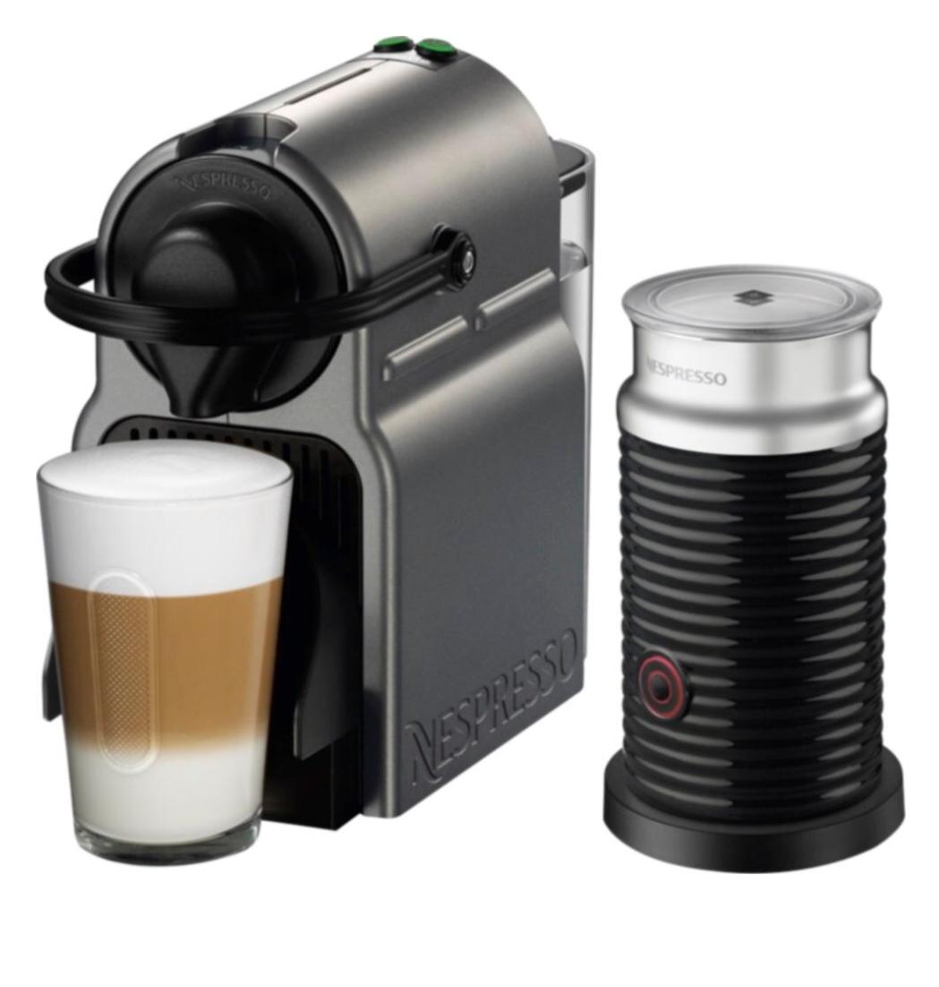 Nespresso - Inissia Espresso Maker/Coffeemaker/Milk Frother - Titan @ Best Buy $99.99