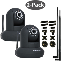 Foscam FI8910W Wireless N IP Camera 2-Pack Bundle w/ 9dbi Antennas & 7-Piece Adjustable Bracket $169.96 w/ FS