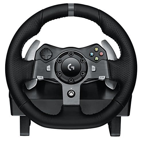 Logitech G920 Dual-motor Feedback Driving Force Racing Wheel with Responsive Pedals for Xbox One [PC + Xbox One Compatible, Wheel Only] $205.99