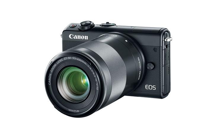 Canon EOS M100 Mirrorless Camera w/ 15-45mm Lens & 55-200mm Lens $400