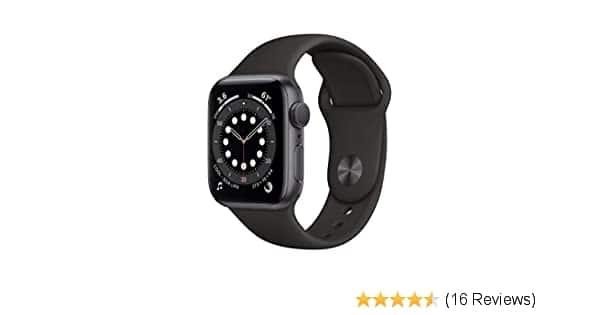 New Apple Watch Series 6 (GPS, 40mm) - Space Gray Aluminum Case with Black Sport Band 374.99