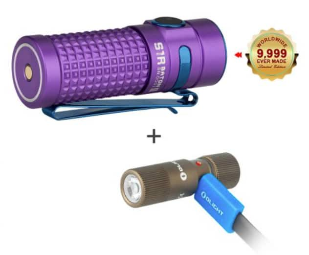 Olight Flash Sale Starting at 9pm Pacific; Purple S1R Baton II Bundle $52.74
