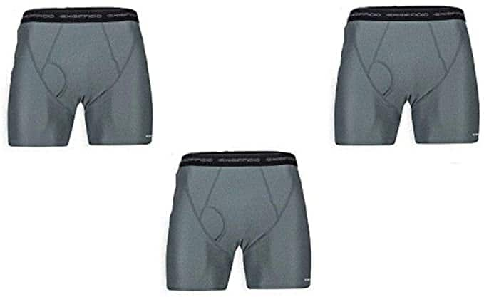 ExOfficio Men's Give-N-Go Boxer Brief 3 Pack - ONLY CHARCOAL S, M and XL $25.28