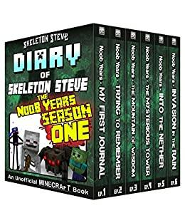Diary of Minecraft Skeleton Steve the Noob Years - Books Season 1 and 3 Free