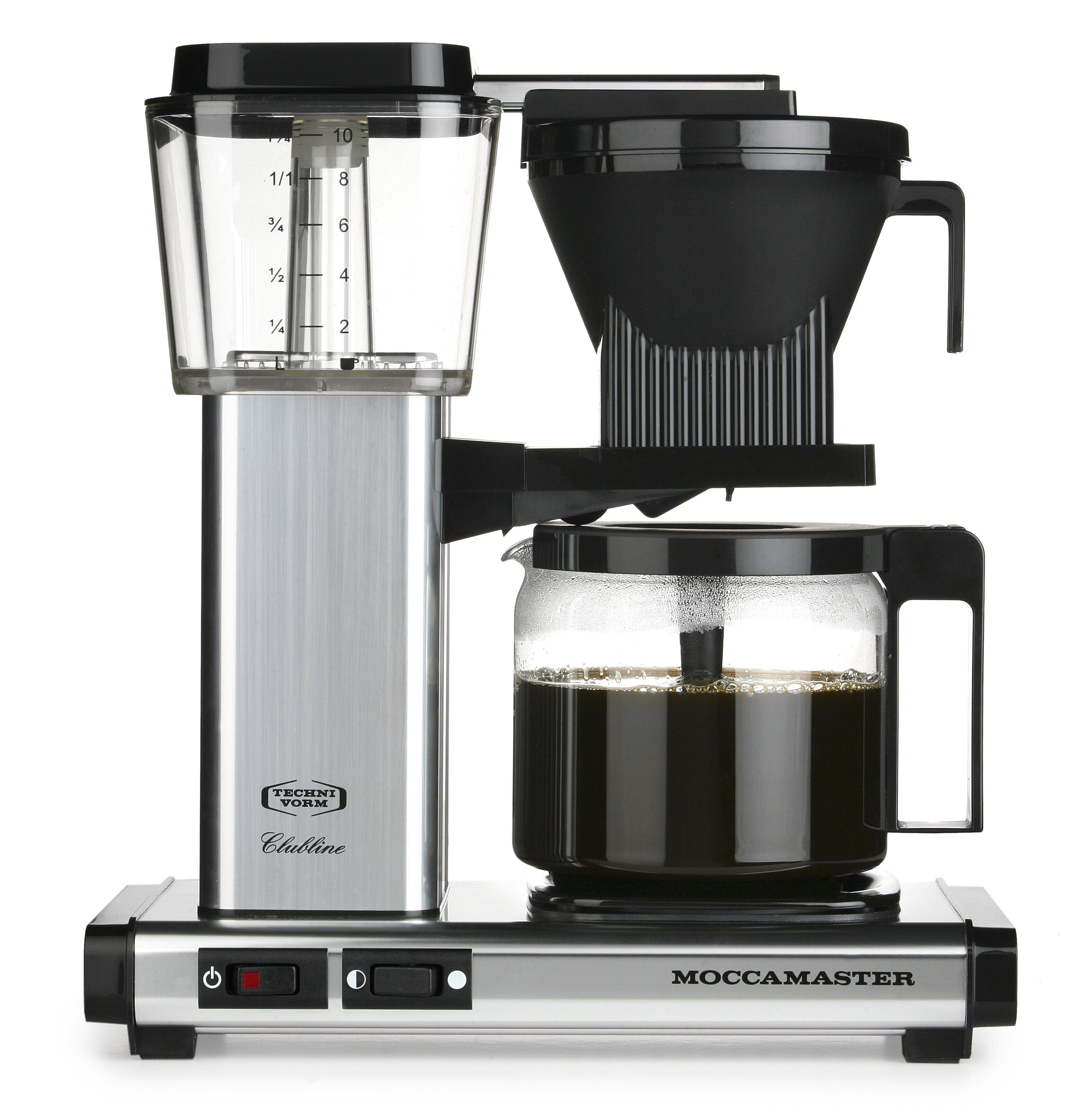 40oz Moccamaster KBG Coffee Brewer (Polished Silver) $263