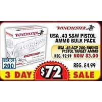 Big 5 Sporting Goods Black Friday: Winchester USA  45 ACP