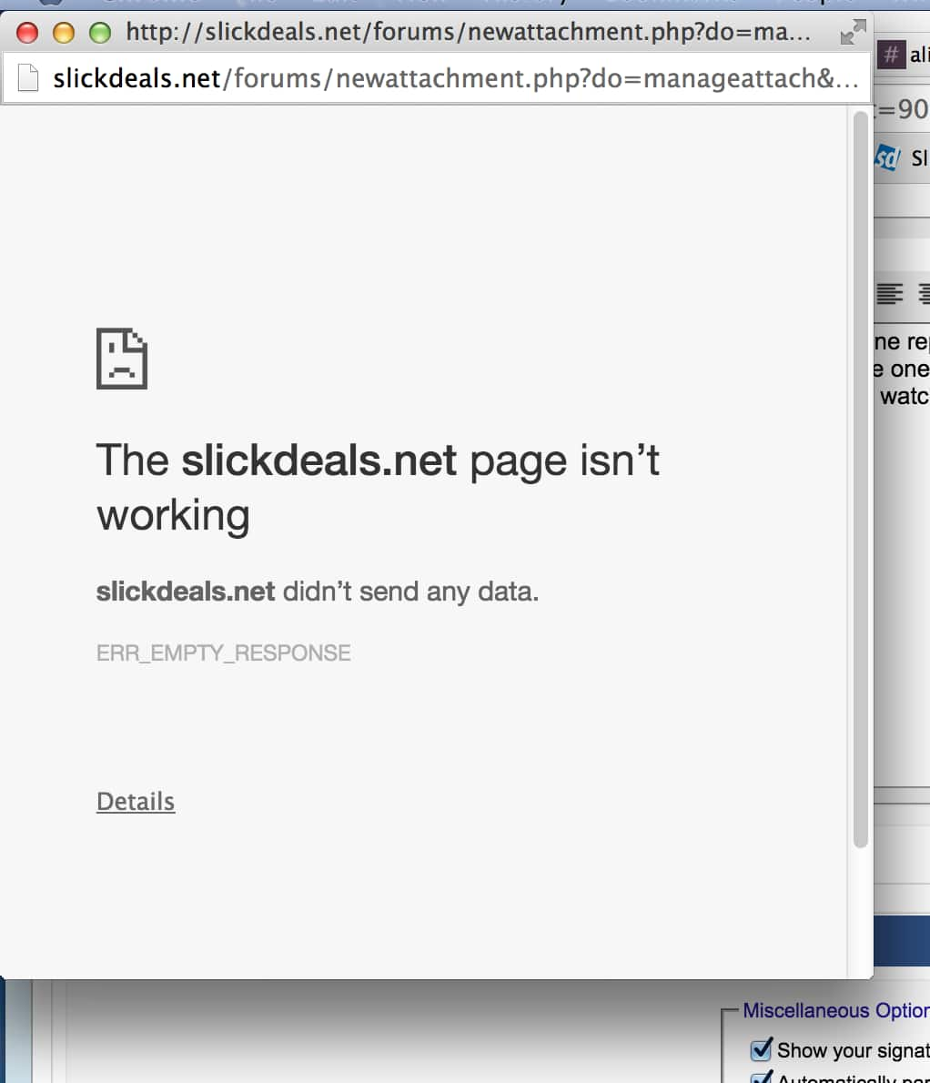 Can't submit to post a deal. - Slickdeals.net