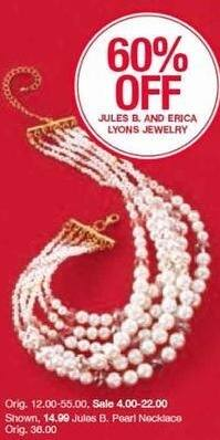 Belk Black Friday: Jules B and Erica Lyons Jewelry - 60% Off