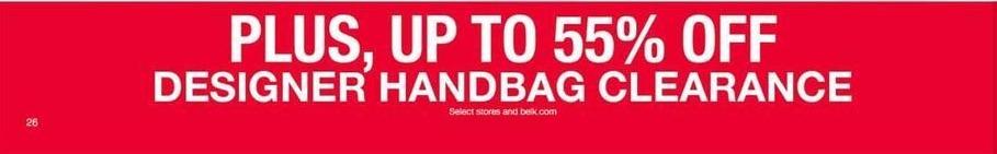 Belk Black Friday: Designer Handbag Clearance - Up to 55% Off