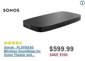 Best Buy Black Friday: Sonos Playbase Wireless Soundbase for Home Theater and Streaming Music for $599.99
